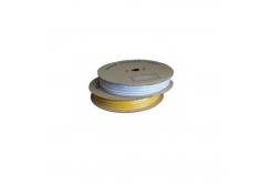 Popisovací hvězdicová PVC bužírka H-07Z, vnitřní průměr 2,5mm / průřez 0,75mm2, žlutá, 140m