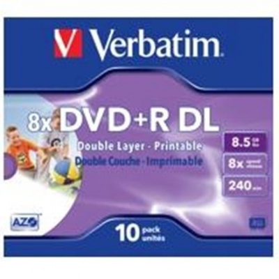 DVD+R Verbatim DoubleLayer 8,5GB 8x SPINDL