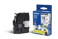 Brother TZ-FX241 / TZe-FX241, 18mm x 8m, čierna tlač/biely podklad, originálna páska