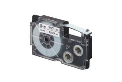 Casio XR-9WE1, 9mm x 8m, čierna tlač/biely podklad, originálna páska