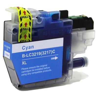 Brother LC-3217XL / LC-3219XL azurová (cyan) kompatibilní cartridge
