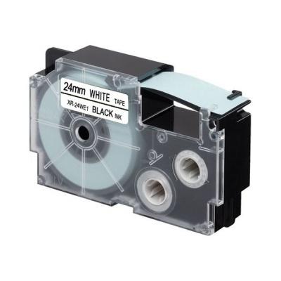 Kompatibilná páska s Casio XR-24WE1, 24mm x 8m, čierny tisk / biely podklad
