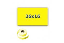 Cenové etikety do kleští, obdélníkové, 26mm x 16mm, 700ks, signální žluté