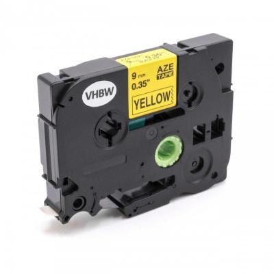 Brother TZe-V621, 9mm x 5,5m, černý tisk / žlutý podklad, vinyl, kompatibilní páska
