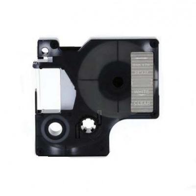 Kompatibilná páska s Dymo 53720, 24mm x 7m, biela tlač / priehľadný podklad