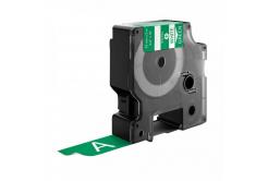 Kompatibilná páska s Dymo 1805420, Rhino, 19mm x 5,5m biela tlač / zelený podklad, vinyl