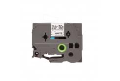 Kompatibilná páska s Brother HSe-251, 23,7mm x 1,5m, čierna tlač / biely podklad