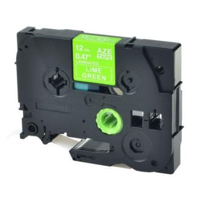 Kompatibilná páska s Brother TZ-MQG35/TZe-MQG35, 12mm x 5m, biela tlač / limetkový podklad
