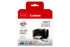 Canon originálna cartridge PGI-1500 BK/C/M/Y Multipack, CMYK, 400/3*300 str., 9218B005, Canon MAXIFY MB2050,MB2150,MB2155,MB2350,MB2750,M