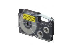 Casio XR-9YW1, 9mm x 8m, čierna tlač/žltý podklad, originálna páska