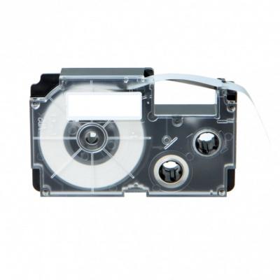 Kompatibilná páska s Casio R3.5YW 6mm x 2m smršťovací čierny tisk / žltý podklad