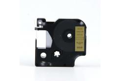 Kompatibilná páska s Dymo 45813, 19mm x 7m, čierny tisk / zlatý podklad