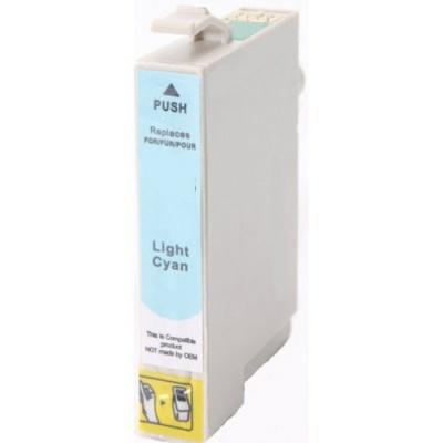 Epson T0805 svetle azúrová (light cyan) kompatibilná cartridge