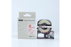 Epson LK-ST6RW, 6mm x 9m, červený tisk / průhledný podklad, kompatibilní páska
