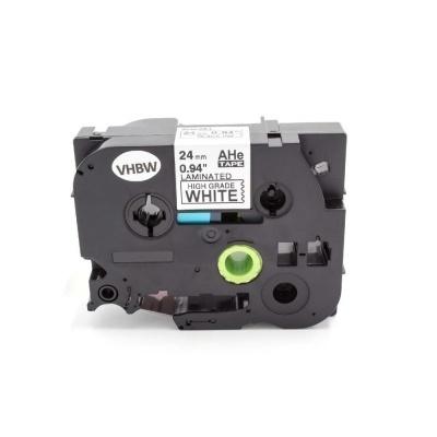 Kompatibilná páska s Brother HGe-251, 24mm x 8m, čierna tlač/biely podklad vysokorychlostní