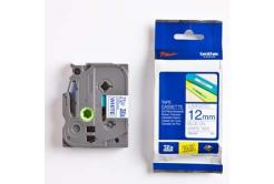 Brother TZ-233 / TZe-233, 12mm x 8m, modrá tlač/biely podklad, originálna páska