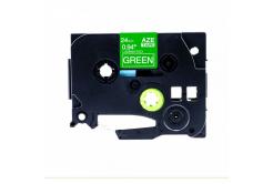 Kompatibilná páska s Brother TZ-755 / TZe-755, 24mm x 8m, biela tlač / zelený podklad
