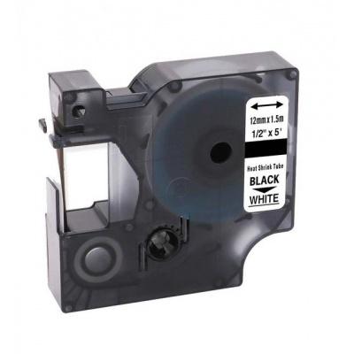 Kompatibilná páska s Dymo 18055, S0718300, Rhino, 12mm x 2,5m čierna tlač / biely podklad