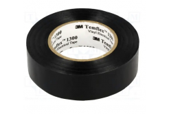3M Temflex 1300 Elektroizolační páska, 19 mm x 20 m, černá