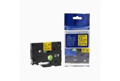 Kompatibilná páska s Brother TZ-631 / TZe-631, 12mm x 8m, čierna tlač / žltý podklad