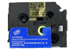 Kompatibilná páska s Brother TZ-811 / TZe-811, 6mm x 8m, čierna tlač / zlatý podklad