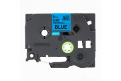 Kompatibilná páska s Brother TZ-FX521 / TZe-FX521, 9mm x 8m, flexi, čierna tlač / modrý podklad