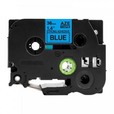 Kompatibilná páska s Brother TZ-S561 / TZe-S561, 36mm x 8m, extr.adh. čierna tlač / modrý podklad