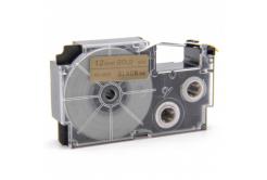 Kompatibilná páska s Casio XR-12GD1 12mm x 8m čierny tisk / zlatý podklad