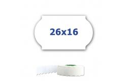 Cenové etikety do kleští, 26mm x 16mm, 700ks, bílé