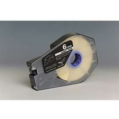 Kompatibilná samolepiaca páska pre Canon M-1 Std/M-1 Pro / Partex, 6mm x 30m, kazeta, biela