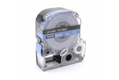 Epson LC-SD18BW, 18mm x 8m, bílý tisk / modrý podklad, kompatibilní páska