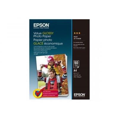 Epson Value Glossy Photo Paper, lesklý bílý foto papír, A4, 200 g/m2, 50 ks, C13S400036