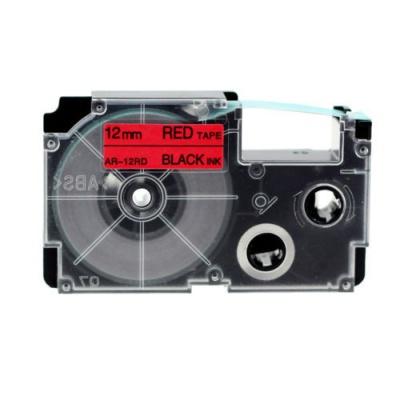 Kompatibilná páska s Casio XR-12RD1, 12mm x 8m, čierna tlač/červený podklad