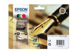 Epson originálna cartridge C13T16364012, T163640, 16XL, CMYK, 3x6.5/12.9ml, Epson WorkForce WF-2540WF, WF-2530WF, WF-2520NF, WF-2010