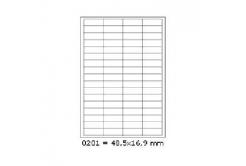 Samolepiace etikety 48,5 x 16,9 mm, 68 etikiet, A4, 100 listov
