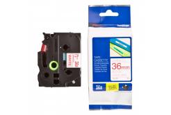 Kompatibilná páska s Brother TZ-262 / TZe-262, 36mm x 8m, červená tlač / biely podklad