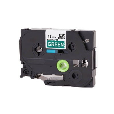Kompatibilná páska s Brother TZ-745 / TZe-745, 18mm x 8m, biela tlač / zelený podklad