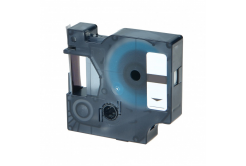 Dymo 43614, 6mm x 7m, modrý tisk / bílý podklad, kompatibilní páska