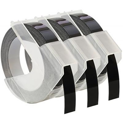 Kompatibilná páska s Dymo S0847730, 9mm x 3 m, biela tlač / čierný podklad, 3ks