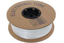 Popisovacia PVC bužírka kruhová BA-60, 6 mm, 200 m, biela