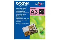 Brother Photo Matt Paper, foto papír, matný, bílý, A3, 145 g/m2, 25 ks, BP60MA3, inkoustový