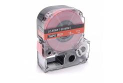 Epson LC-SD18RW, 18mm x 8m, bílý tisk / červený podklad, kompatibilní páska