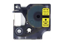 Kompatibilná páska s Dymo 45018, S0720580, 12mm x 7m, čierna tlač/žltý podklad