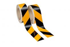 3M 13058 AP Výstražná páska, černo-žluté šrafování, levé 25 m + pravé 25 m, šíře 50 mm
