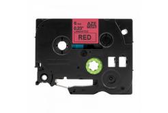 Kompatibilná páska s Brother TZ-S411 / TZe-S411, 6mm x 8m, extr.adh. čierna tlač / červený podklad