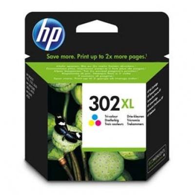 HP 302XL F6U67AE farebná (color) originálna cartridge