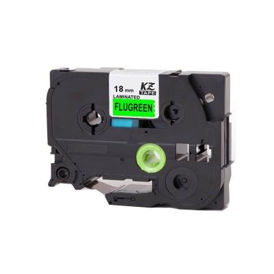 Kompatibilná páska s Brother TZ-D41/TZe-D41, signálne 18mm x 8m, čierna tlač/zelený podklad