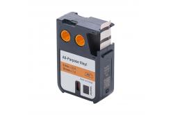 Kompatibilná páska s Dymo 1868767, 19mm x 7m, čierna tlač/oranžový podklad