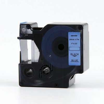 Kompatibilná páska s Dymo 53716, S0720960, 24mm x 7m, čierny tisk / modrý podklad