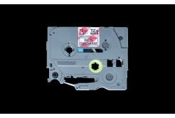 Brother TZ-MPRG31 / TZe-MPRG31, 12mm x 4m, čierna tlač / bílý-červený podklad, originálna páska